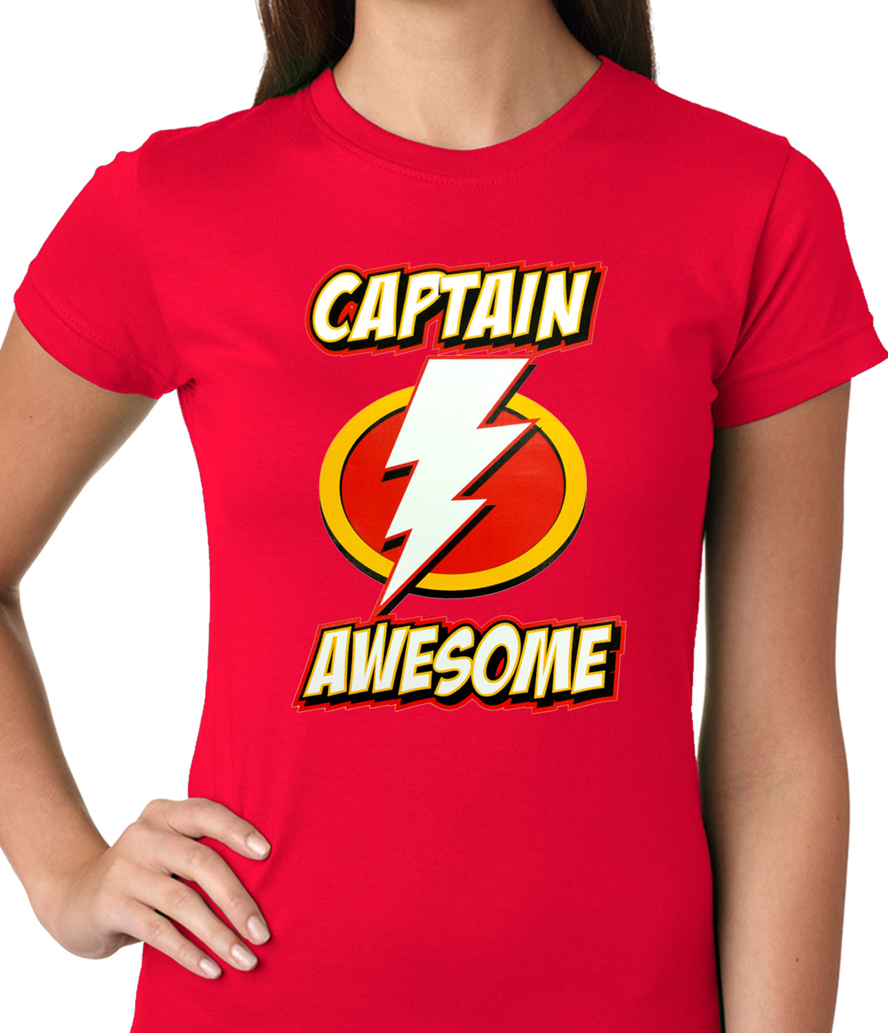Captain Awesome Ladies T-shirt