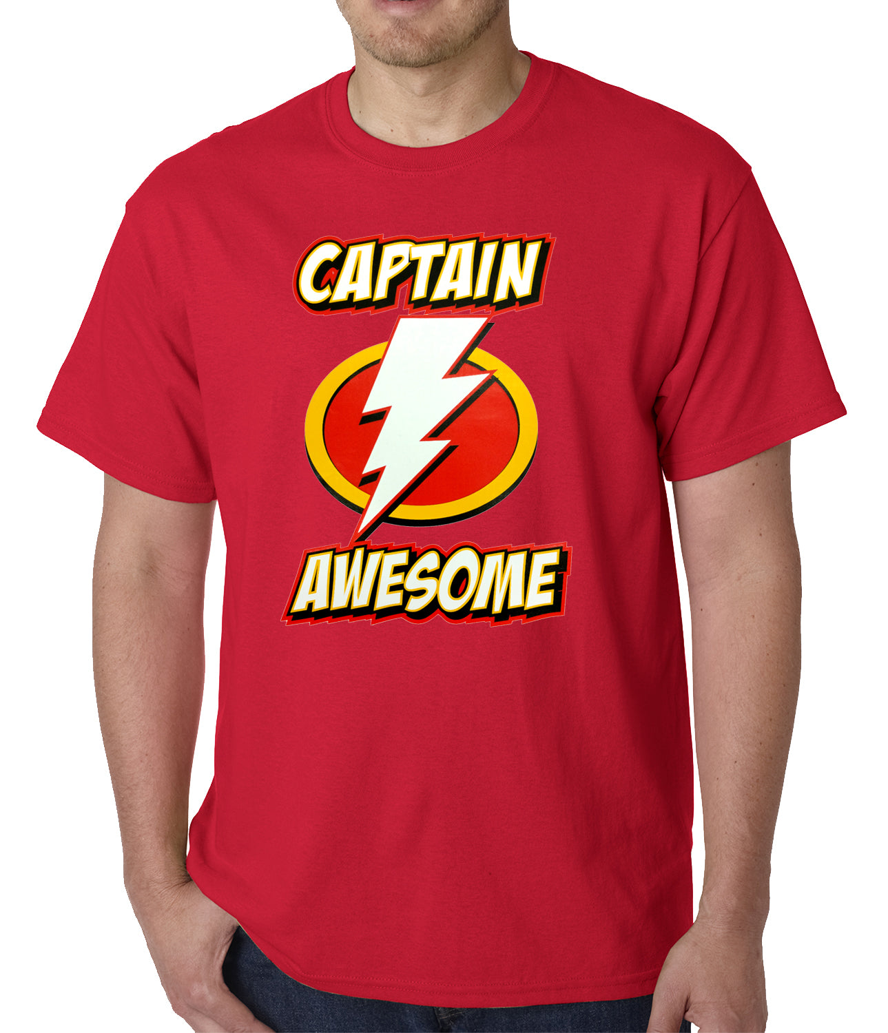 Captain Awesome Mens T-shirt