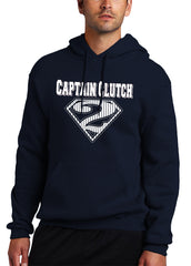 Captain Clutch #2 Pinstripe Baseball Adult Hoodie