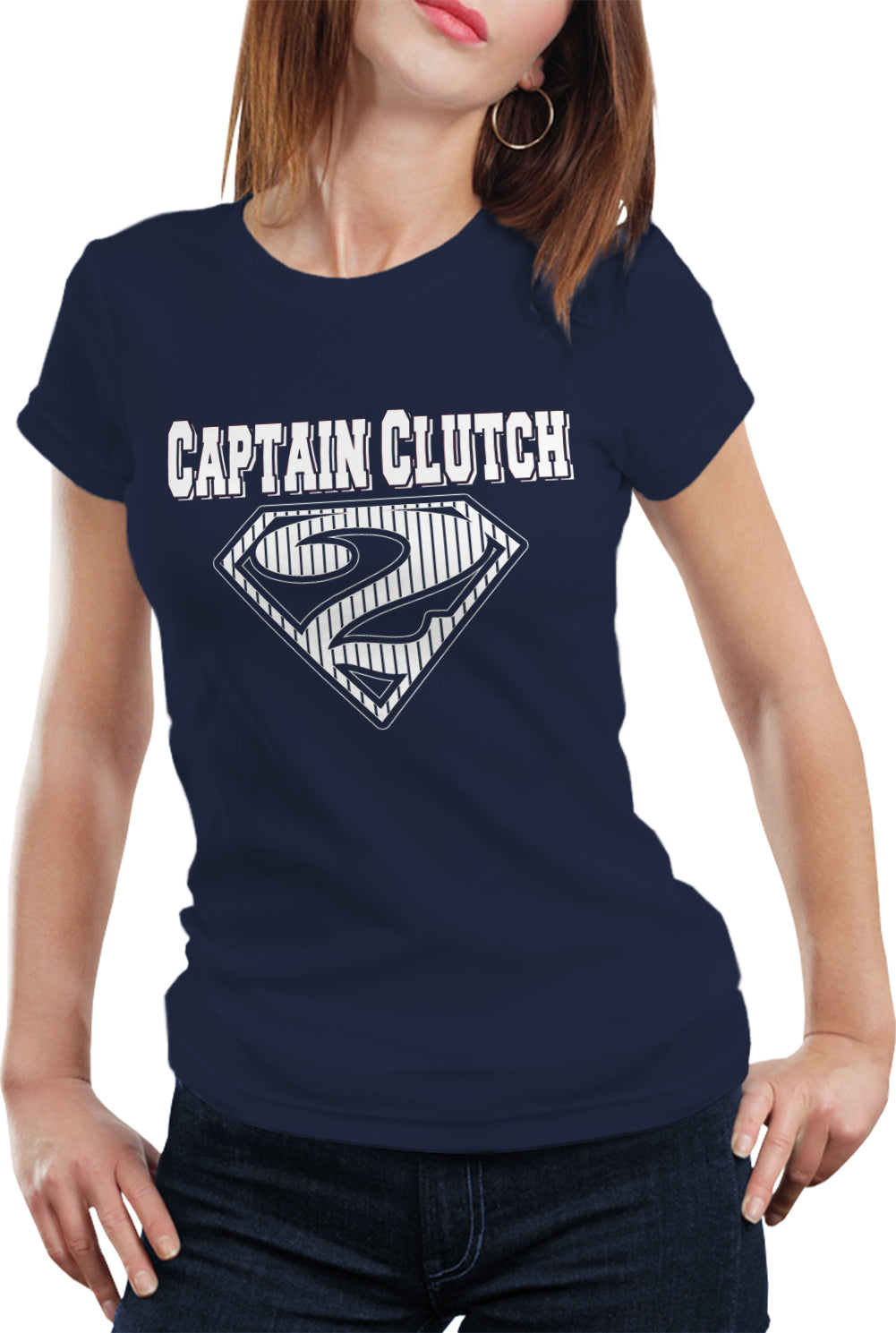 Captain Clutch #2 Pinstripe Baseball Girl's T-Shirt