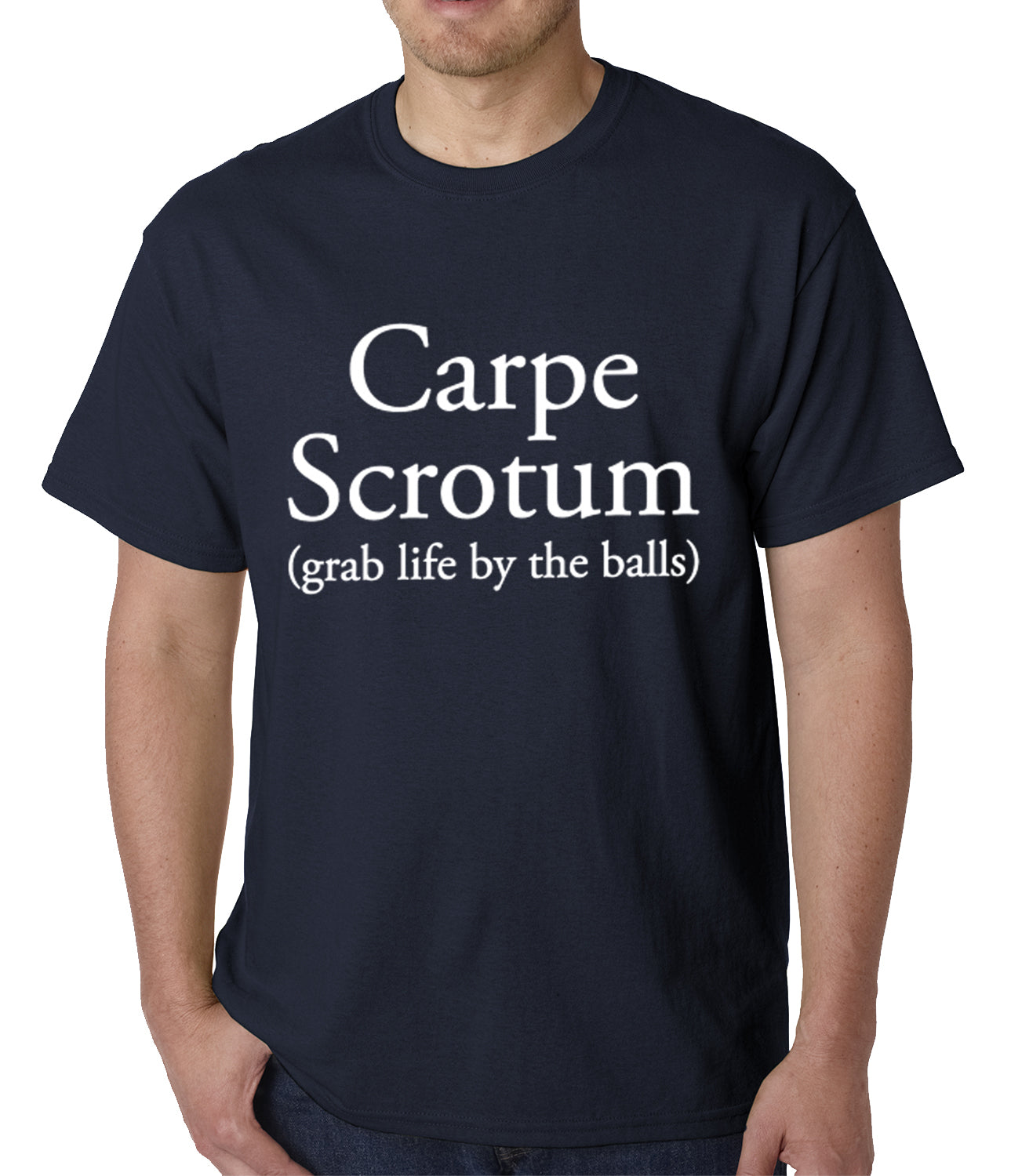 Carpe Scrotum - Grab Life By The Balls Mens T-shirt