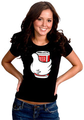 Cartoon Hand Beer Can Girl's T-Shirt