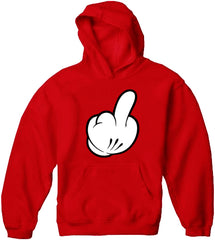 Cartoon Hand Middle Finger Adult Hoodie