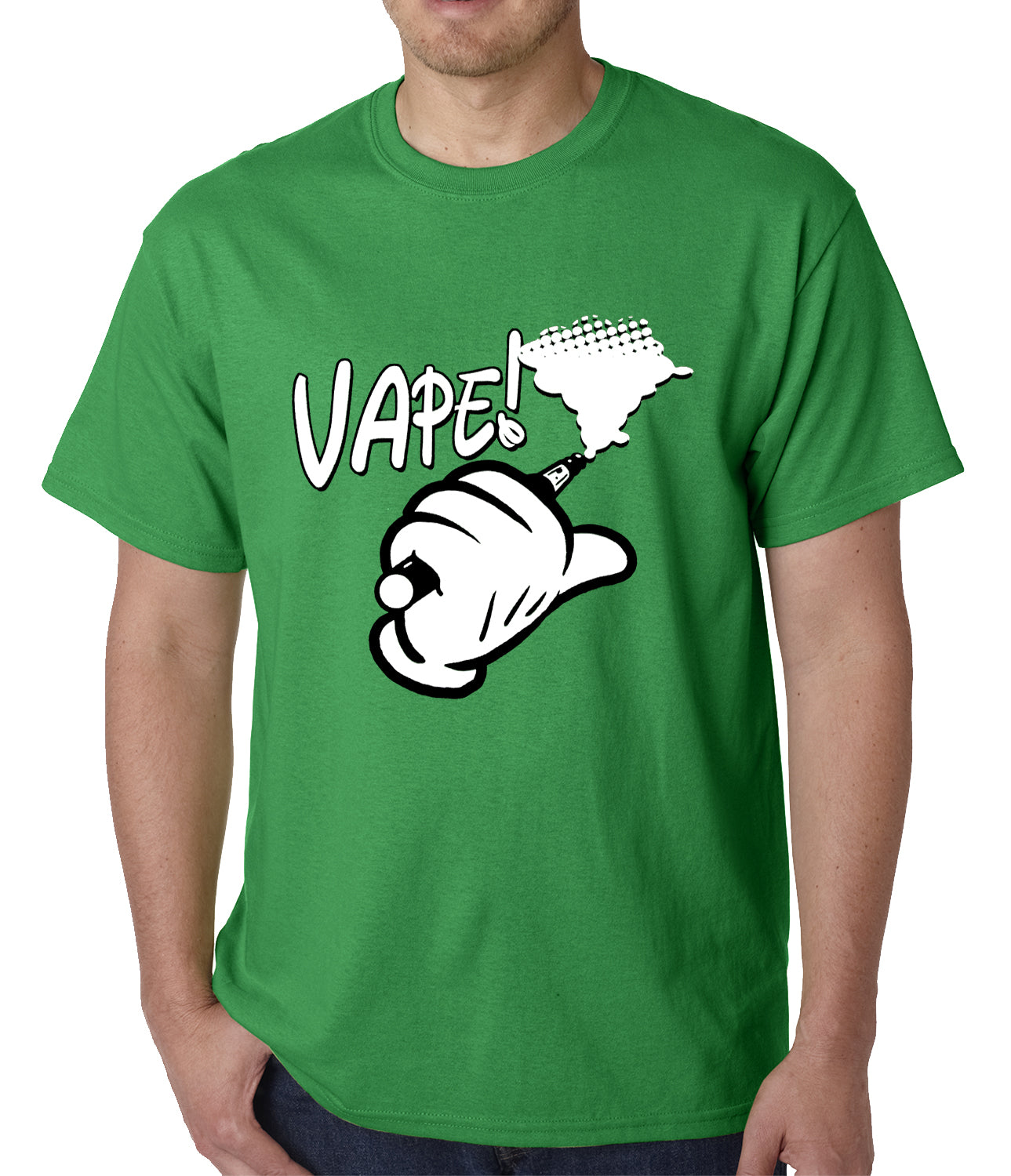 Cartoon Hand Vape Mens T-shirt