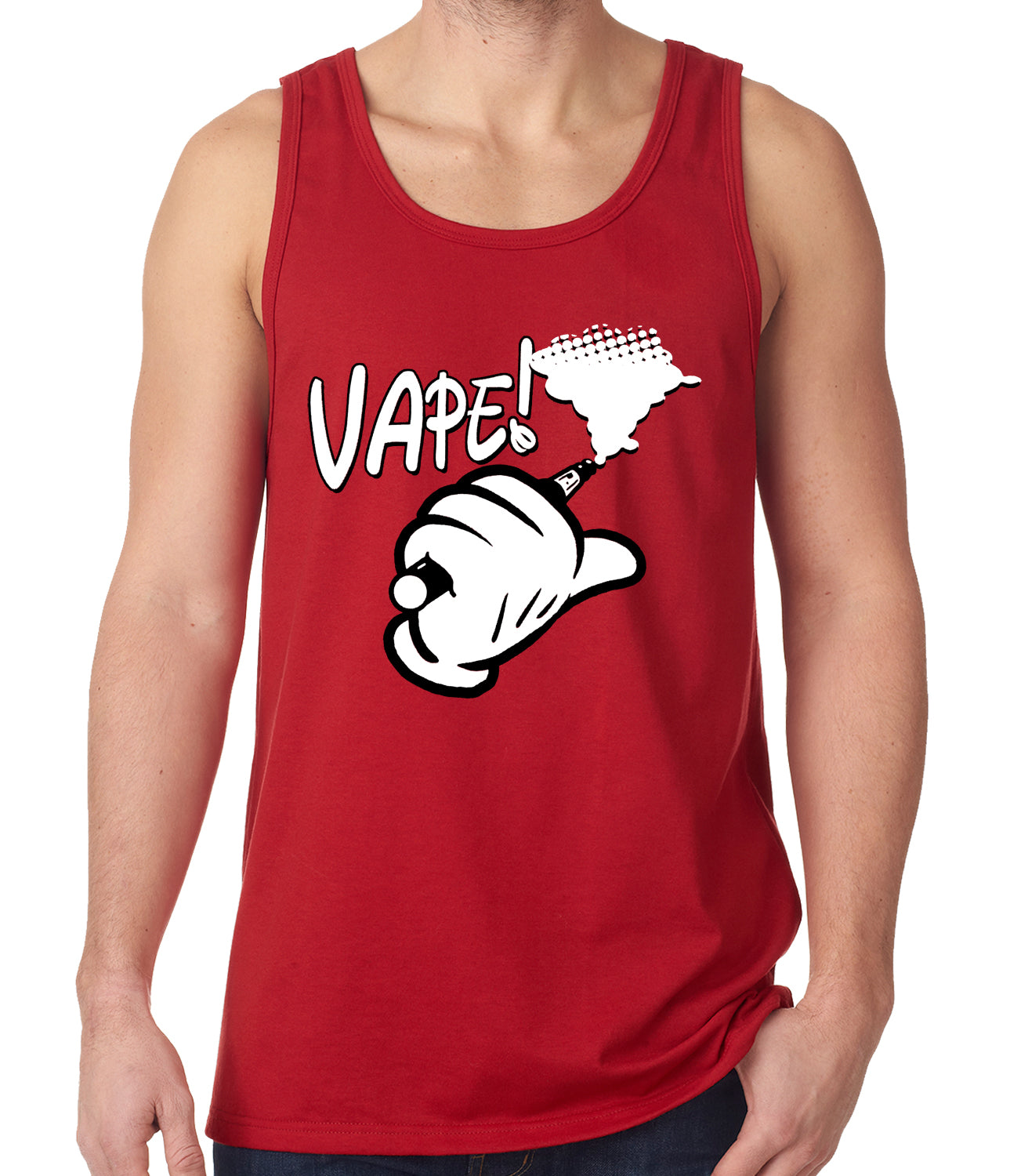 Cartoon Hand Vape Tank Top