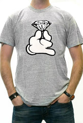 Cartoon Hand With Diamond Men's T-Shirt