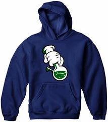 Cartoon Hands Bong Rip Adult Hoodie