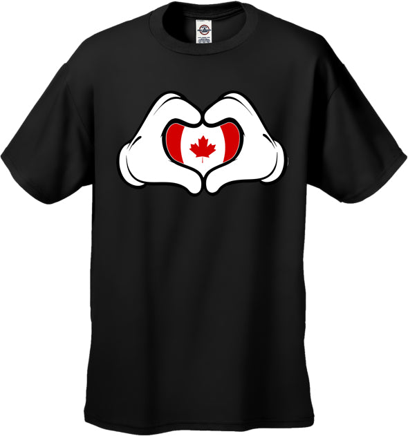 Cartoon Hands Canadian Flag Men's T-Shirt