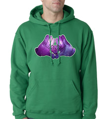 Cartoon Hands Diamond Cosmos Adult Hoodie