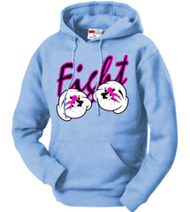 Cartoon Hands Fight Breast Cancer Adult Hoodie