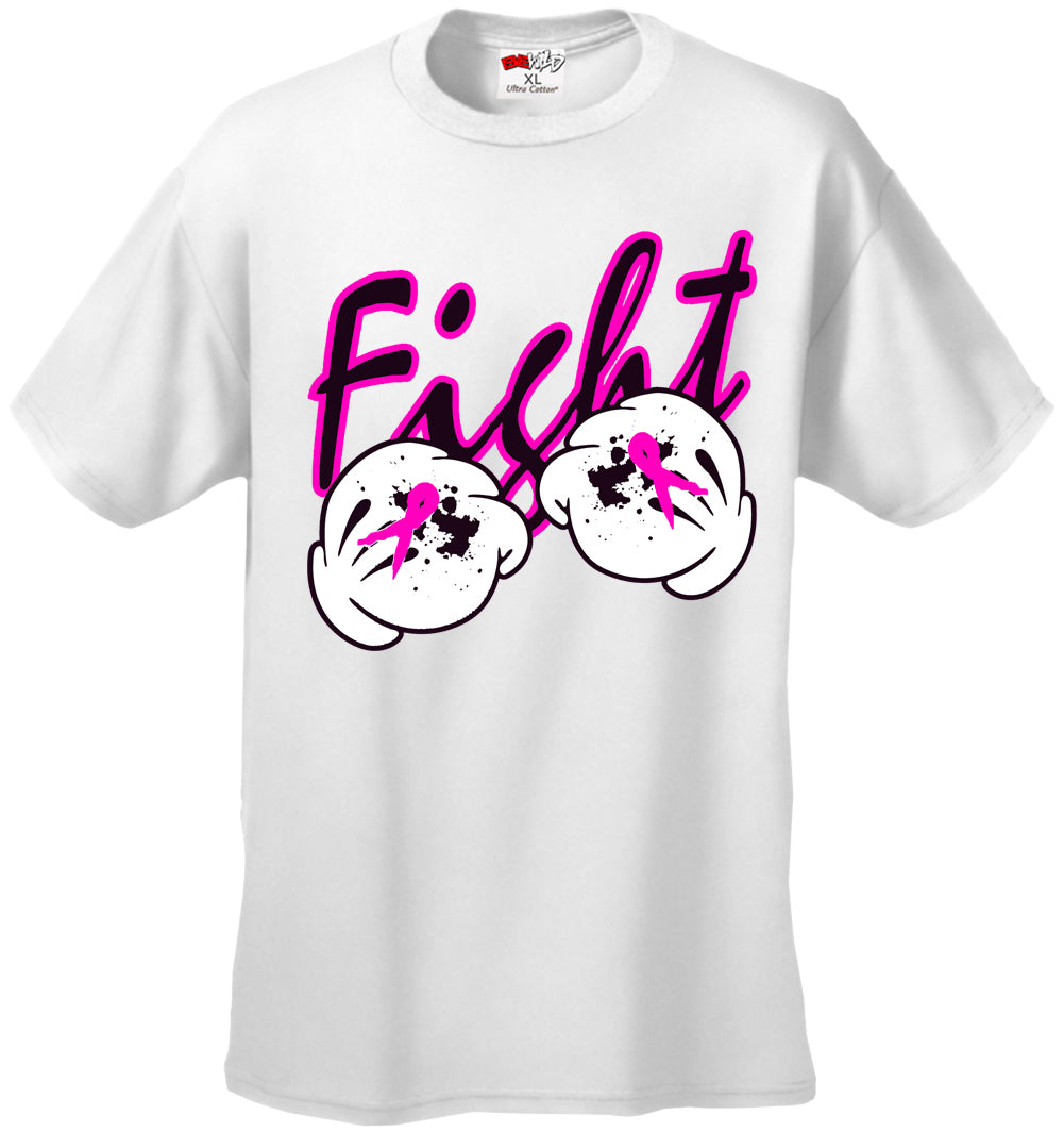 Cartoon Hands Fight Breast Cancer Mens T-shirt
