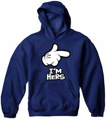 Cartoon Hands I'm Hers Adult Hoodie
