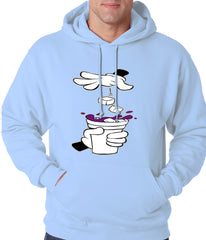 Cartoon Hands - Purple Drink Adult Hoodie