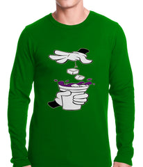 Cartoon Hands - Purple Drink Thermal Shirt