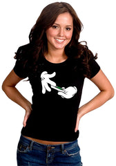 Cartoon Hands Roll A Joint Girl's T-Shirt