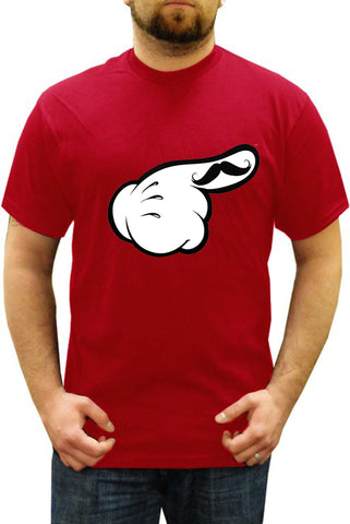 Cartoon Hands The 'Stache Men's T-Shirt