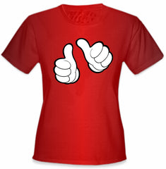 "Cartoon Hands ""This Girl"" Girl's T-Shirt"