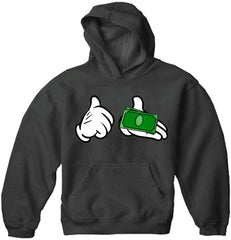 Cartoon Money Hands Adult Hoodie