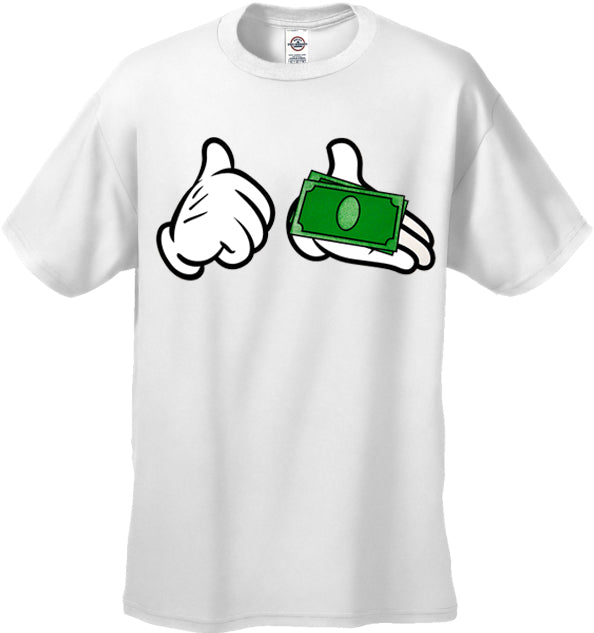 Cartoon Money Hands Men's T-Shirt
