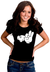 Cartoon Sex Hands Girl's T-Shirt