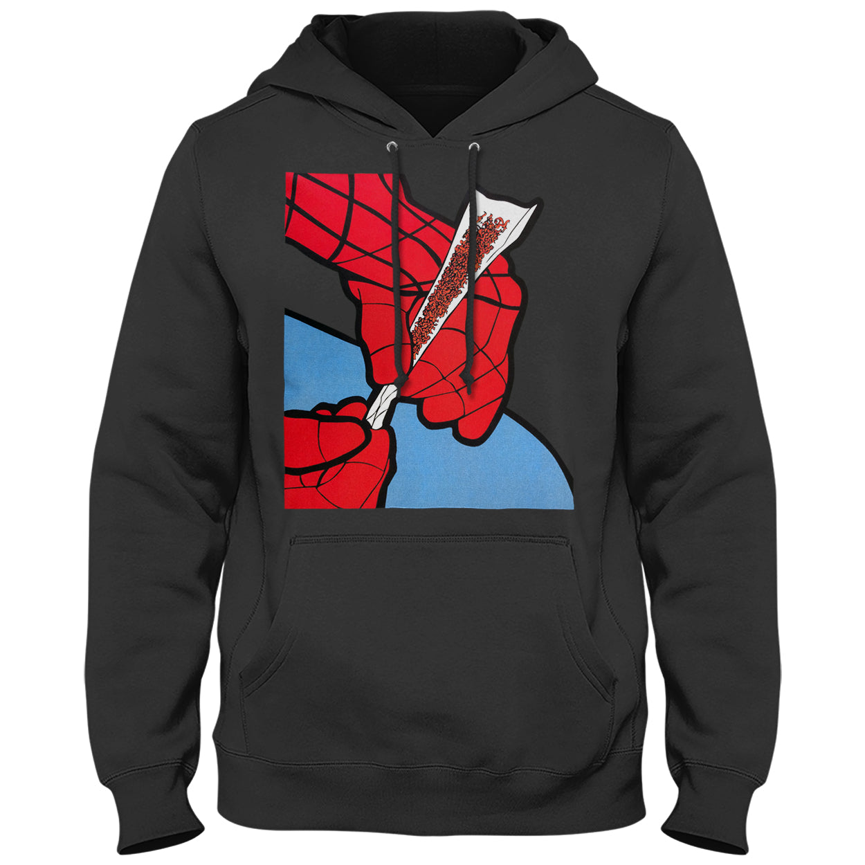 Cartoon Spider Hands Rolling Up Adult Hoodie