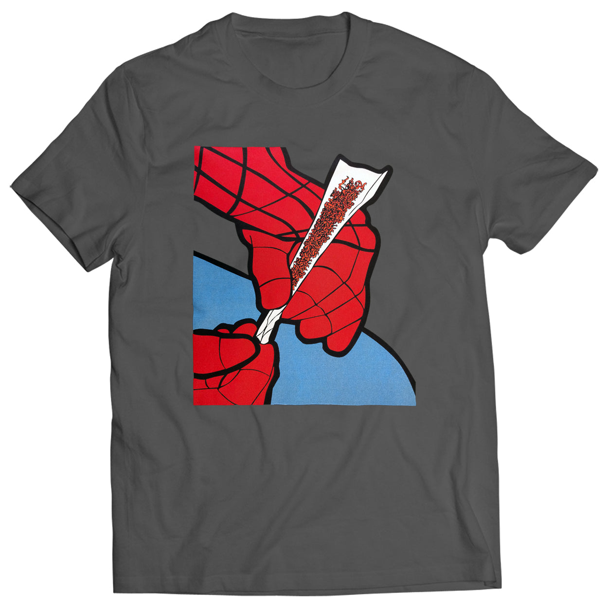 Cartoon Spider Hands Rolling Up Mens T-shirt