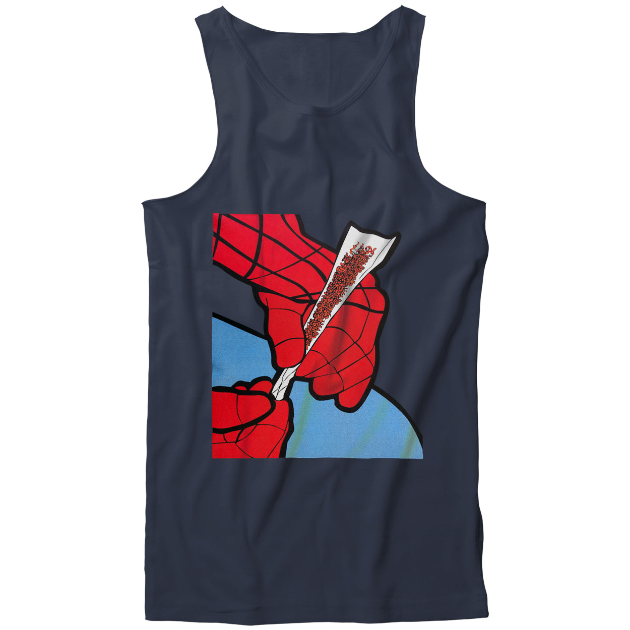 Cartoon Spider Hands Rolling Up Tank Top