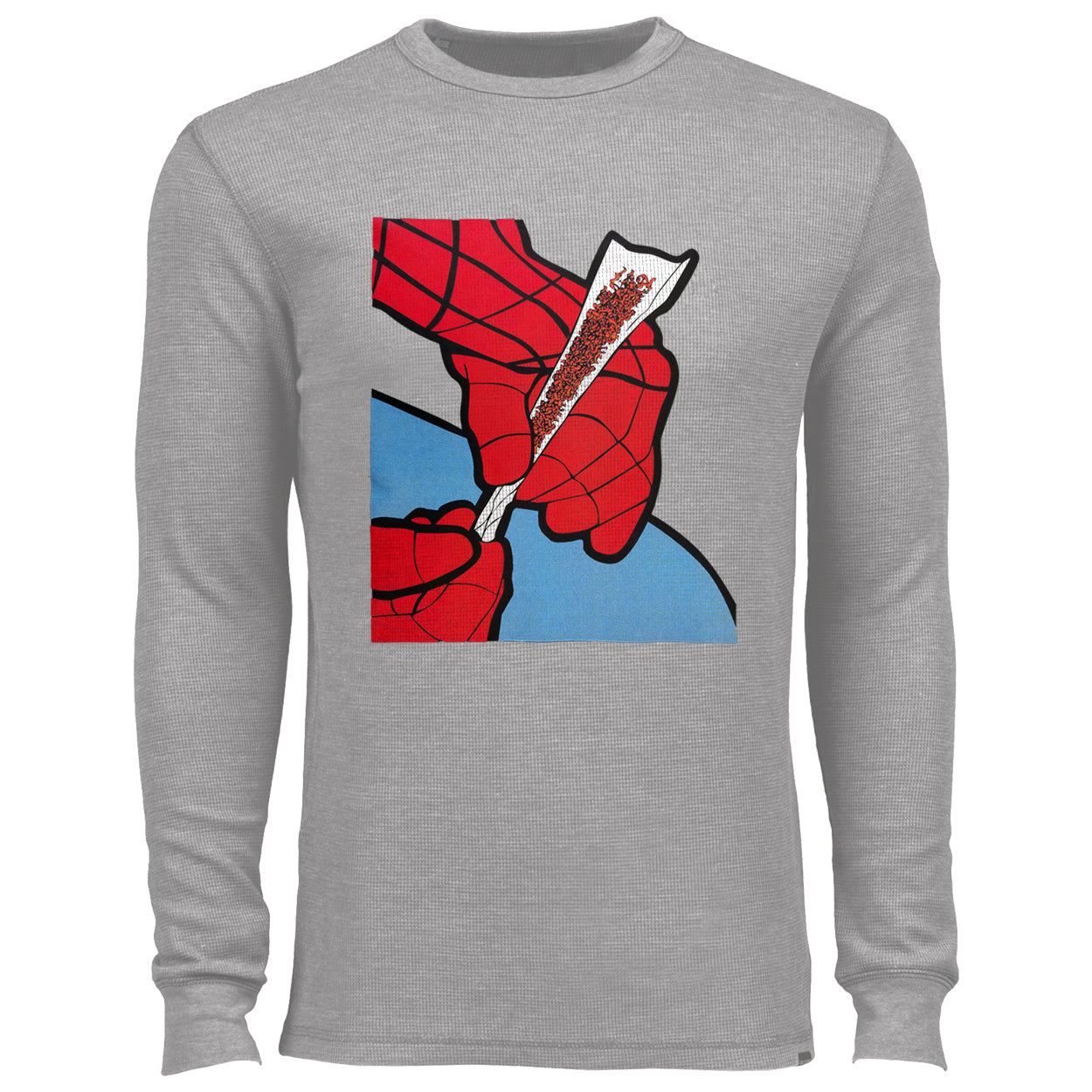Cartoon Spider Hands Rolling Up Thermal Shirt