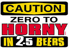 Caution Zero To Horny T-Shirt