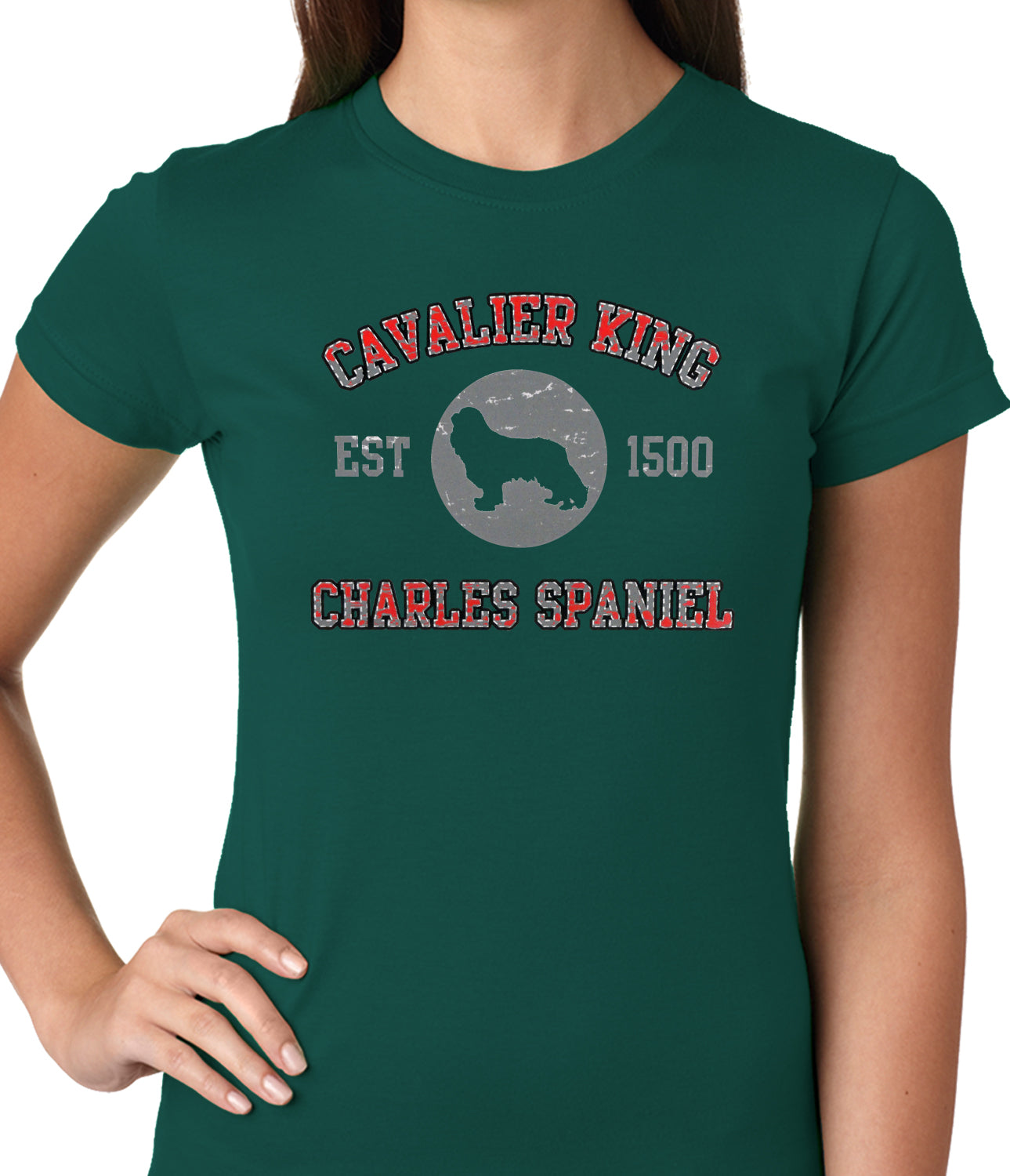 Cavalier King Charles Spaniel EST. 1500 Girls T-shirt