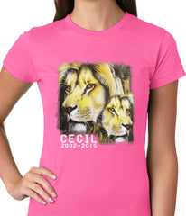 Cecil The Lion Tribute Shirt Ladies T-shirt