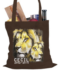 Cecil The Lion Tribute Shirt Tote Bag