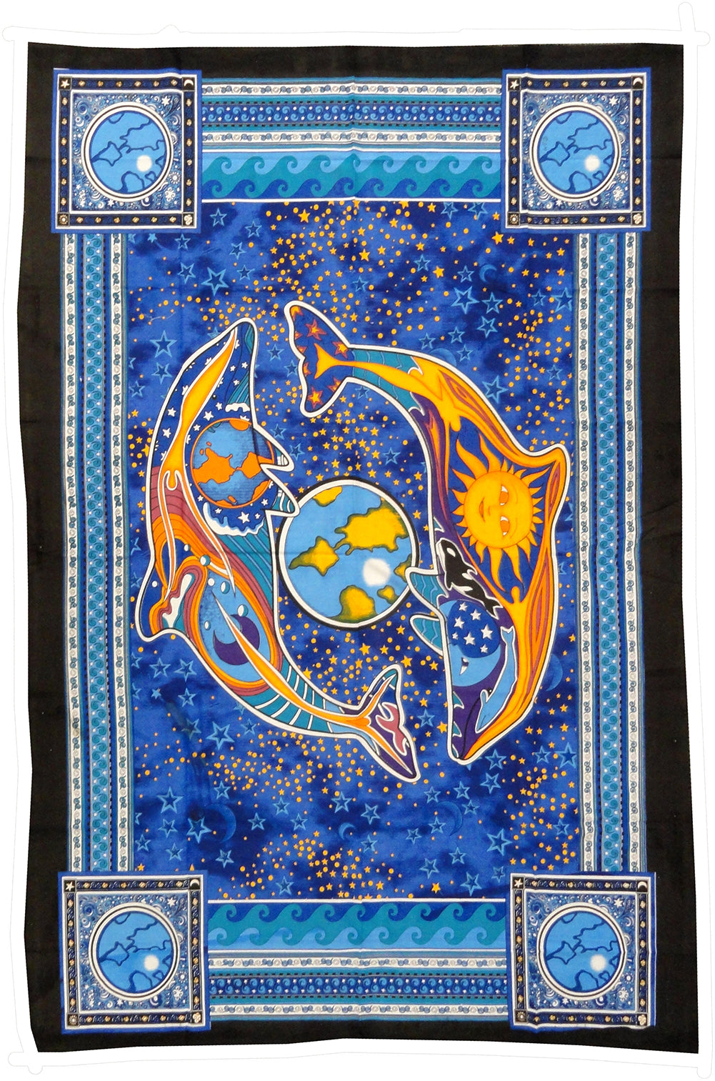 Celestial Dolphins Tapestry