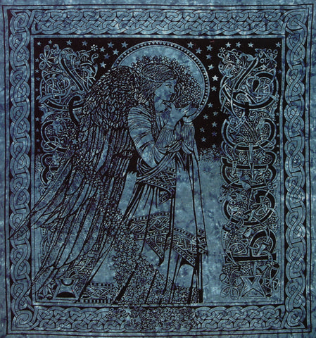Celtic Angel Tapestry (Teal)