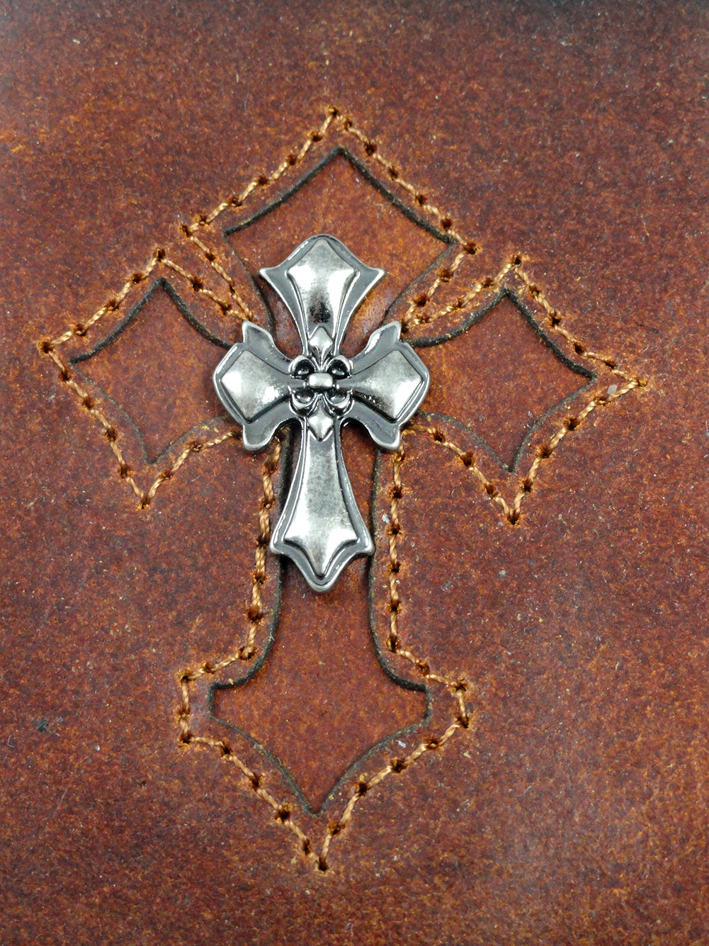 Celtic Cross Vintage Leather Chain Wallet