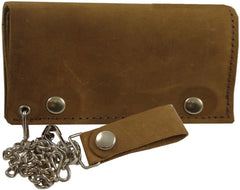 "Rustic Leather 6"" Biker Chain Wallet"
