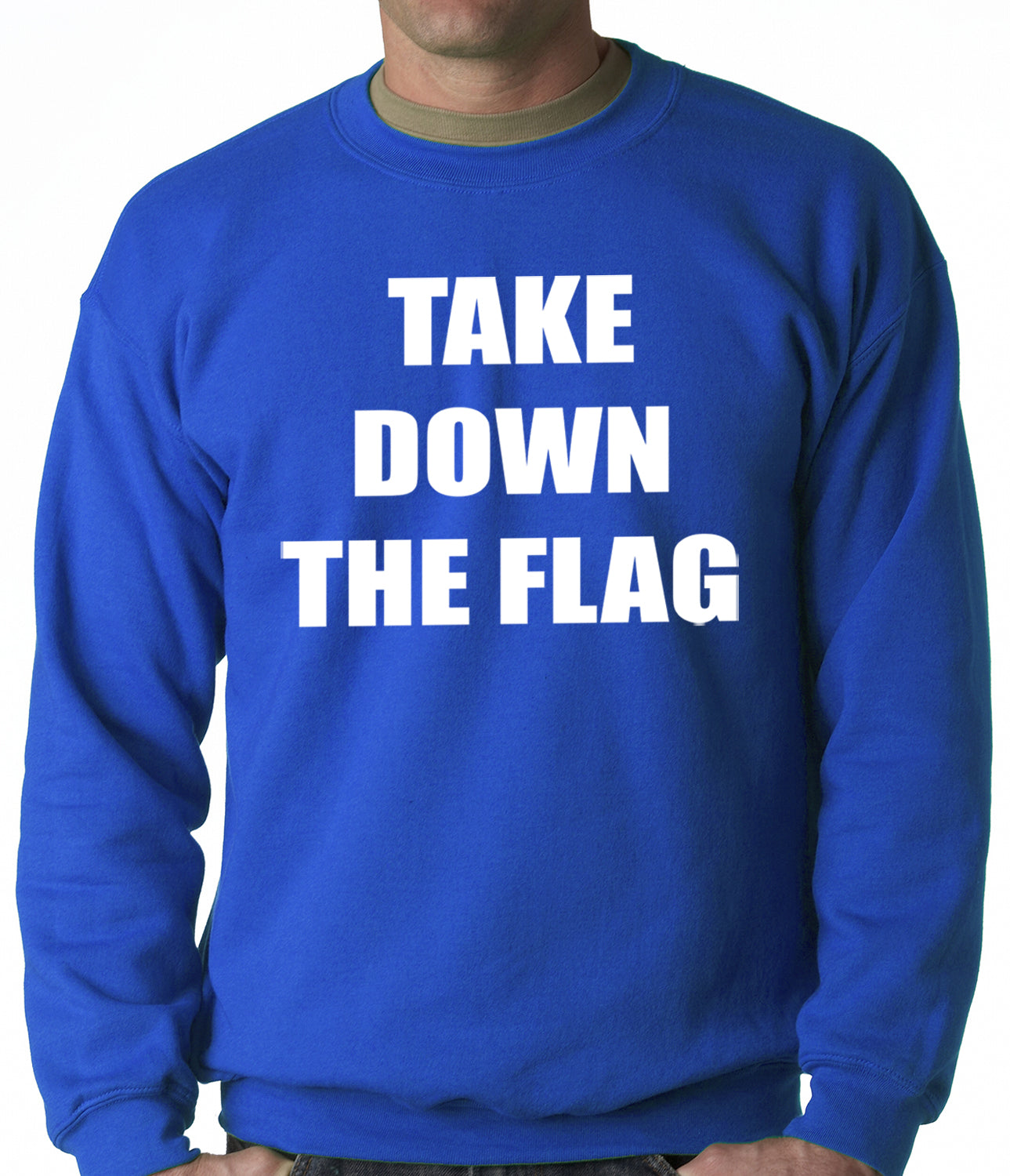 Charleston South Carolina Take Down The Flag Protest  Adult Crewneck