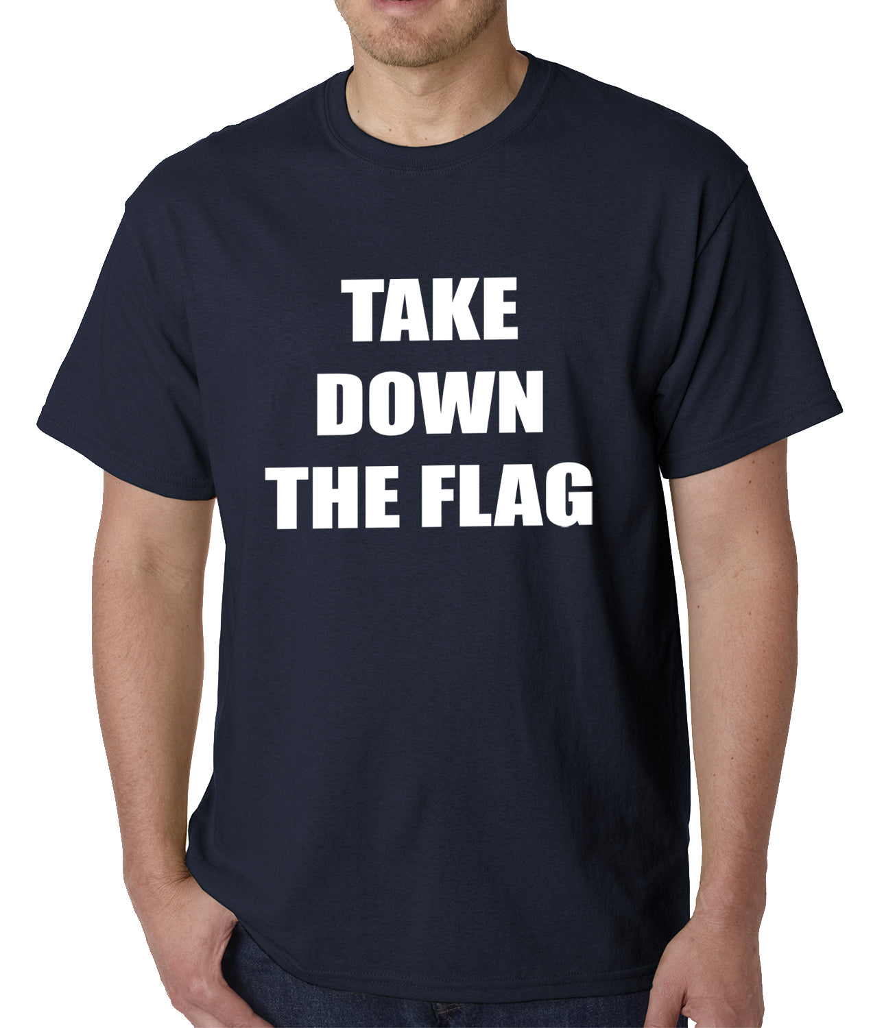 Charleston South Carolina Take Down The Flag Protest Mens T-shirt