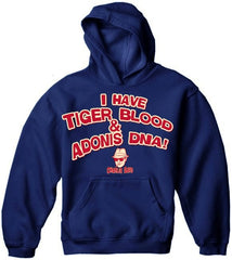 Charlie Says T-Shirts - I Have Tiger Blood! Hoodie Navy Blue