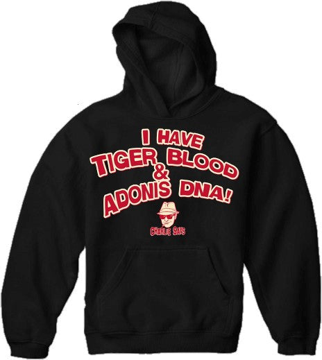 Charlie Says T-Shirts - I Have Tiger Blood! Hoodie Black