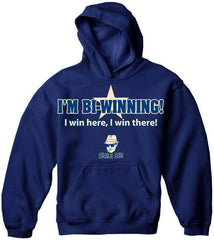 Charlie Says T-Shirts - I'm Bi-Winning! Hoodie Navy Blue