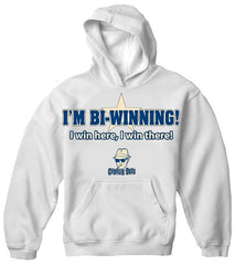 Charlie Says T-Shirts - I'm Bi-Winning! Hoodie White
