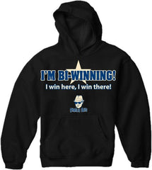 Charlie Says T-Shirts - I'm Bi-Winning! Hoodie Black