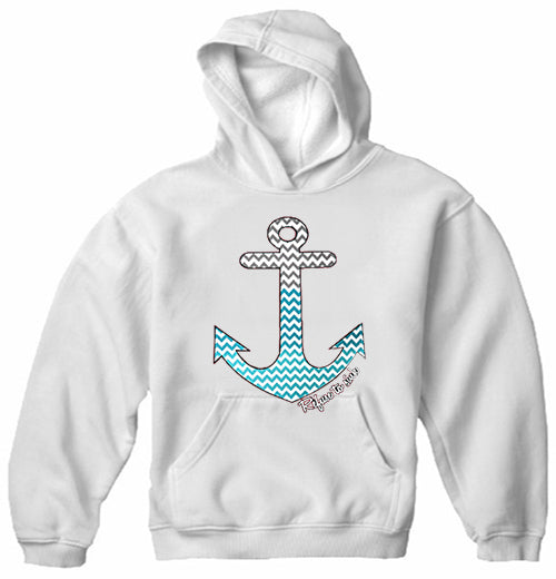 Chevron Lines Refuse To Sink Adult Hoodie