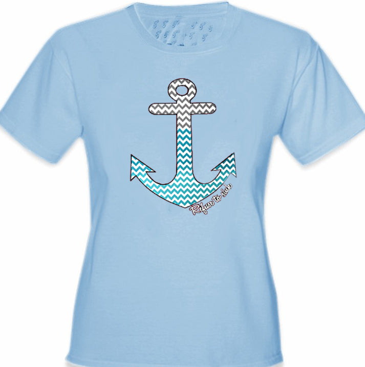 Chevron Lines Refuse To Sink Girl's T-Shirt