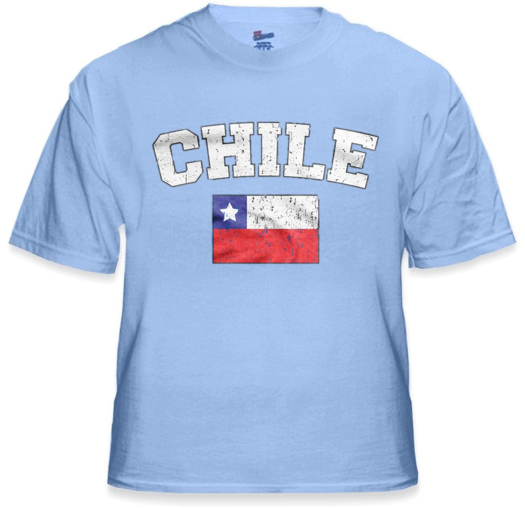 Chile Vintage Flag International Mens T-Shirt