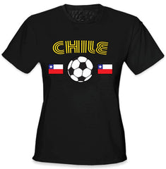Chile World Cup Soccer Girls T-Shirt