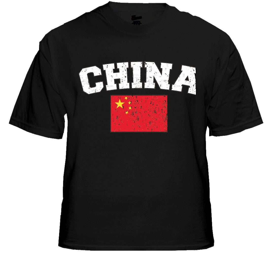 China Vintage Flag International Mens T-Shirt