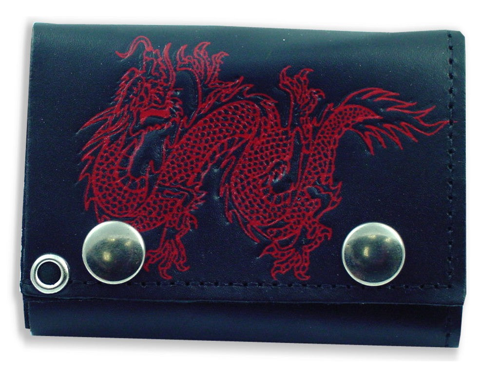 Chinese Dragon Genuine Leather Chain Wallet