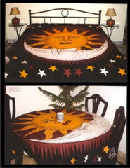 Chinese Throwing Star Yin Yang Tapestry & Bedspread